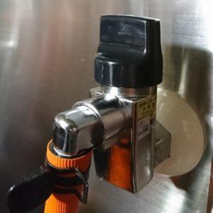 ガスの元栓とガスホース