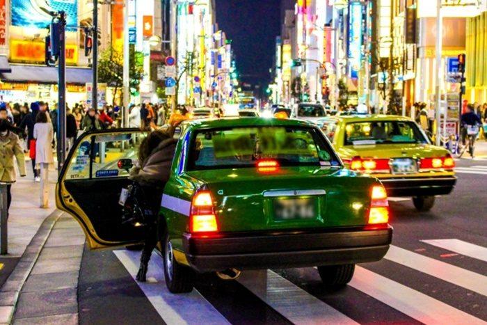 LPG車のタクシー