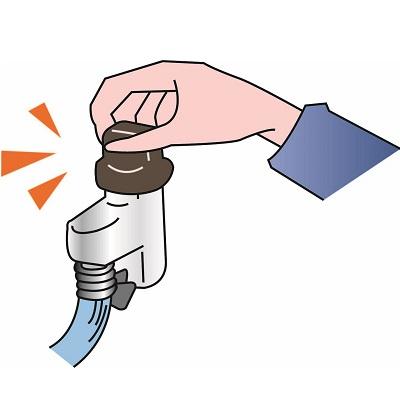 ガスの元栓を閉める