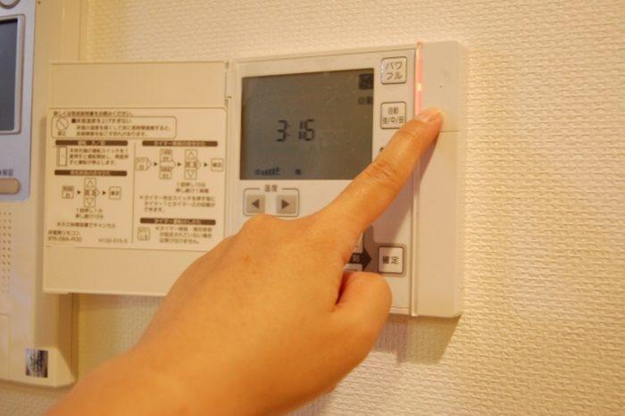 ガス床暖房のリモコン