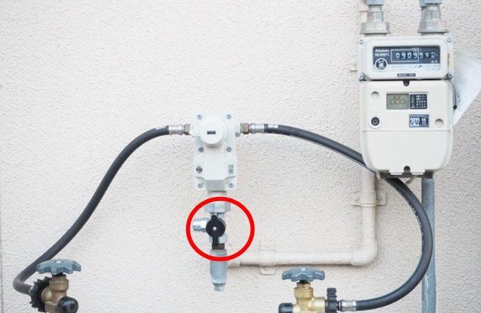 ガスメーターの所の元栓